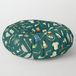 Lord of the pattern green Floor Pillow