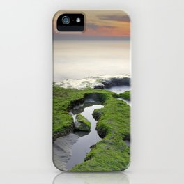 Green, white a red coast iPhone Case
