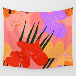 water lily pads and plant Wall Tapestry