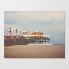 Beach Candy. Santa Monica pier photograph Canvas Print