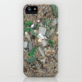 Rolling Rock sea glass iPhone Case
