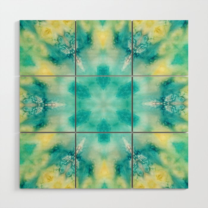 watercolor tie dye Wood Wall Art by sylviacookphotography