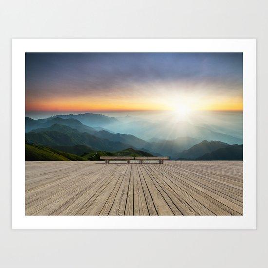 Wugong Mountain, China Art Print
