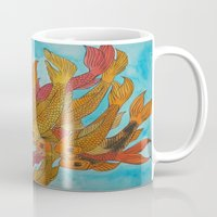 koi fish Mugs featuring Koi Fish by DaeChristine