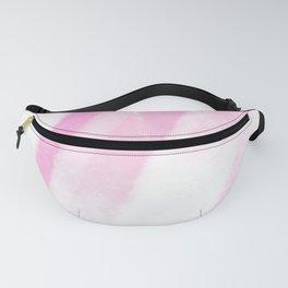 White pink stripes of light Fanny Pack