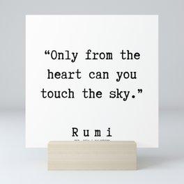 60  | Rumi Quotes  | 190921 Mini Art Print