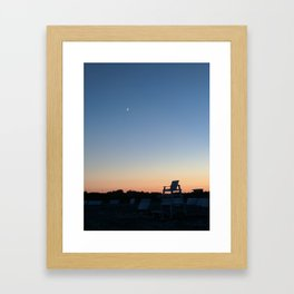 Goodnight Beach Framed Art Print