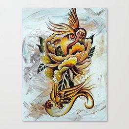 Monarch Peony Remix Canvas Print