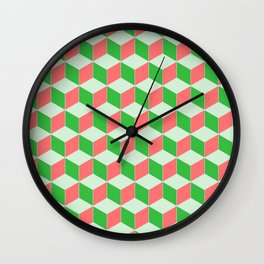 Christmas Escher Print Wall Clock