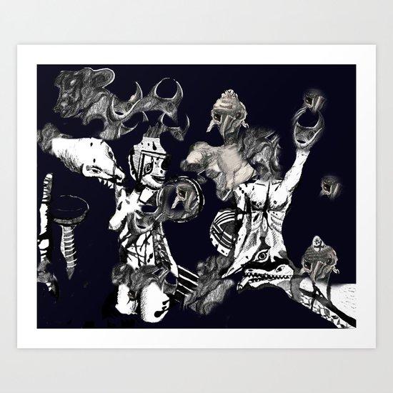 Composite Monsters Art Print