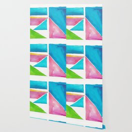 180811 Watercolor Block Swatches 1| Colorful Abstract |Geometrical Art Wallpaper