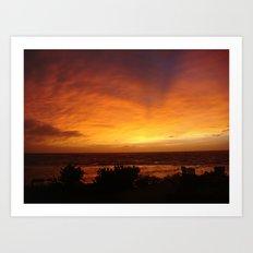 Sunset in Vanuatu Art Print
