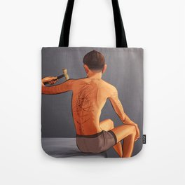 Chalked and Inked Tote Bag