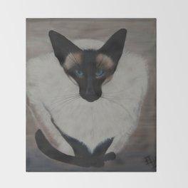 The Siamese Cat Throw Blanket