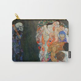 """Gustav Klimt """"Death and Life"""" Carry-All Pouch"""