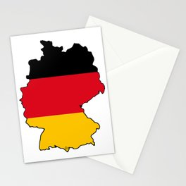 Germany Map with German Flag Stationery Cards