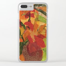 Wild Sunflowers Clear iPhone Case