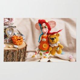 Teddy Bear Doll Rug