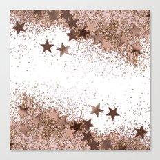 SHAKY STARS ROSEGOLD Canvas Print