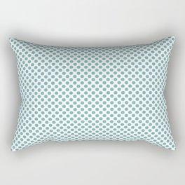 Aqua Sea Polka Dots Rectangular Pillow