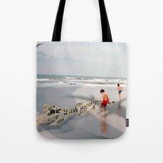 THE BEACH-Suburban Monster Series Tote Bag