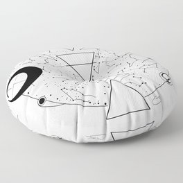 Celestial Alchemical Earth Floor Pillow