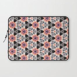 Handmade Pink and Black Kaleidoscope Pattern Laptop Sleeve