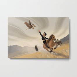 Racing to Safety Metal Print