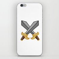 fight iPhone & iPod Skins featuring FIGHT by Countmoopula
