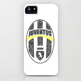 JUVENTUS FOOTBALL CLUB LOGO DOODLE iPhone Case