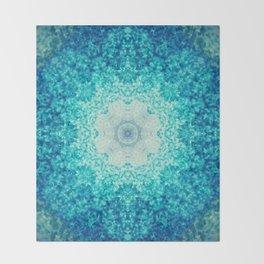 Blue Waves Throw Blanket