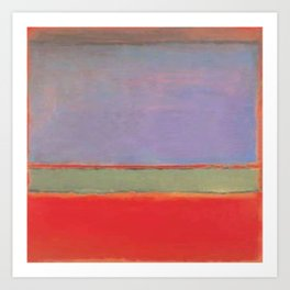1951 No 6 Violet Green and Red by Mark Rothko HD Art Print