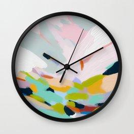 abstract summer hills Wall Clock