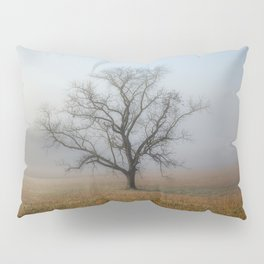 In a Fog - Single Tree on Foggy Morning in the Great Smoky Mountains Pillow Sham