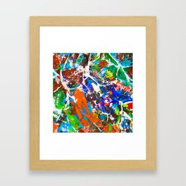 Neurons and Synapse in the Mind. Make a Memory Framed Art Print