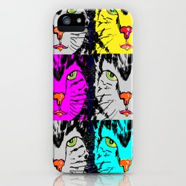 cat faces,visages de chat iPhone Case