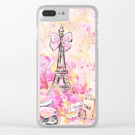 Fashion and Paris #5 Clear iPhone Case