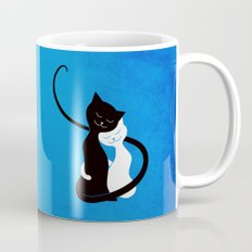 White And Black Cats In Love Mug