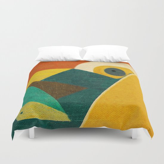 Crazy Seagull Fisher Duvet Cover