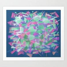 Bright Colored Shards Art Print