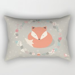 Christmas baby fox 01 Rectangular Pillow
