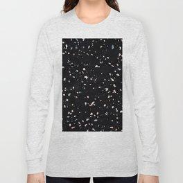 Terrazzo Memphis black galaxy Long Sleeve T-shirt