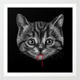 Black Pussy Cat Art Print