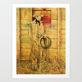 The Unknown Rider Home For Now Art Print