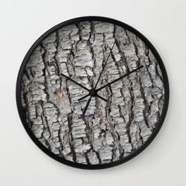 TEXTURES -- Spruce Bark Wall Clock