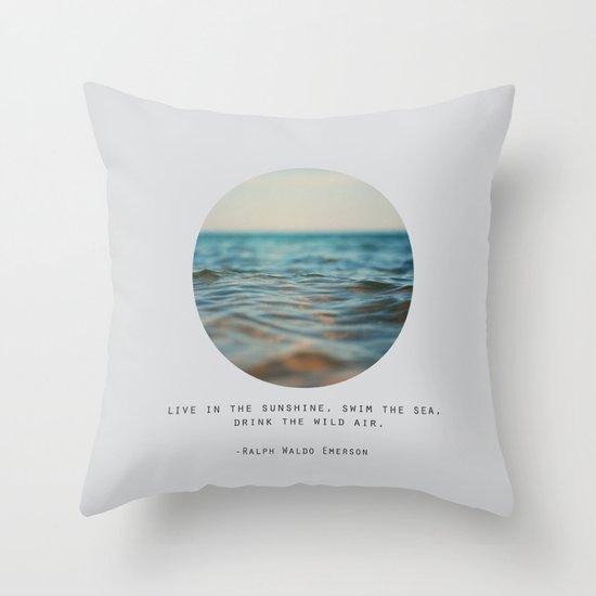 Swim The Sea Throw Pillow