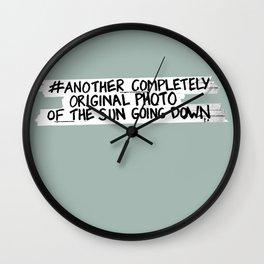 Hashtag Sunset Wall Clock