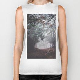 Dark fog forest Biker Tank