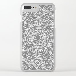 Family: forever intertwined (gray) Clear iPhone Case