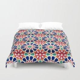 -A21- Traditional Colored Moroccan Mandala Artwork. Duvet Cover